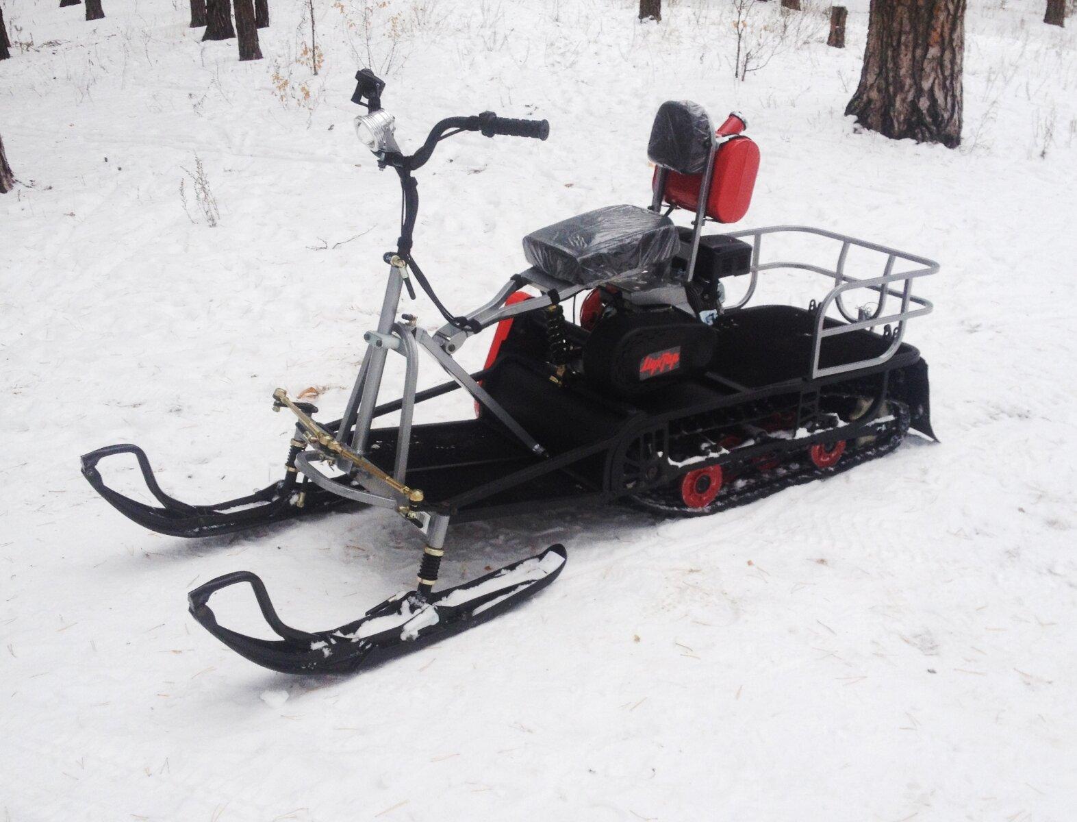 Самодельный лыжный модуль на мотобуксировщик 154